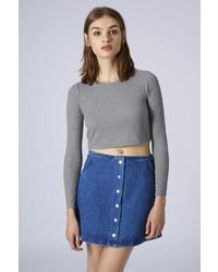6b8eed5e82f5f2 Topshop Petite Long Sleeve Skinny Rib Top, $18 | Topshop | Lookastic.com