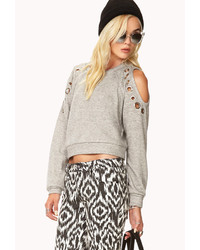 Forever 21 Sleek Cropped Sweatshirt