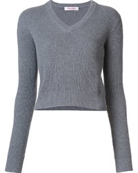Organic by John Patrick V Neck Cropped Pullover