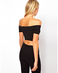 cf182c2ddc886 ... Asos Petite 90s Crop Top With Off The Shoulder Detail