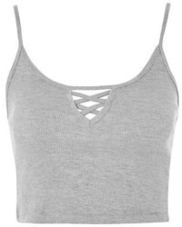 Petite Lattice Detail Crop Top