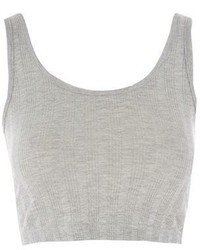Topshop Ribbed Crop Vest Top