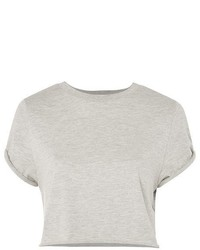 Topshop Roll Crop T Shirt