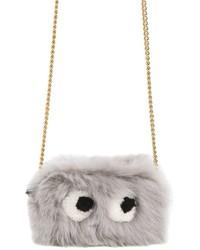 Anya Hindmarch Mini Eyes Shearling Crossbody Bag