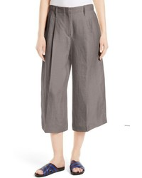 Joseph Tai Wide Leg Linen Crop Pants