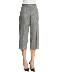 RED Valentino Wide Leg Tweed Capri Pants