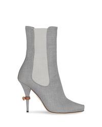 Burberry Stretch Wool Blend Peep Toe Boots