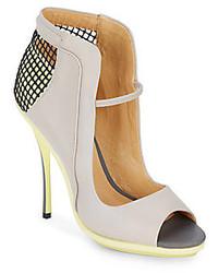 Skylar leather peep toe pumpsgrey yellow medium 160752