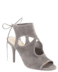 Sexy thing cutout suede tie back sandals medium 543626