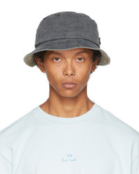 Ps By Paul Smith Grey Denim Bucket Hat