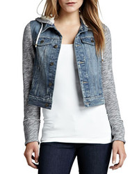 Grey Denim Hoodies for Women | Women's Fashion