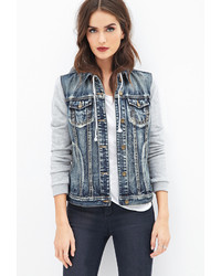 Contemporary denim hoodie jacket medium 124756
