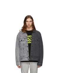 Diesel Grey Denim D Poll Jacket