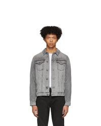 Frame Grey Denim Lhomme Jacket