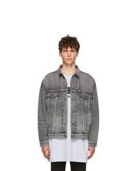 Balenciaga Grey Denim Logo Jacket