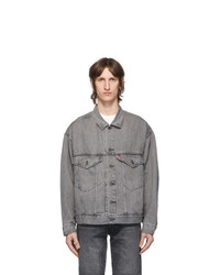 Levis Grey Denim Stay Loose Trucker Jacket