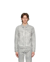 John Elliott Grey Denim Thumper Type Iii Jacket