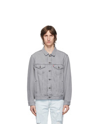 Levis Grey Denim Vintage Fit Trucker Jacket