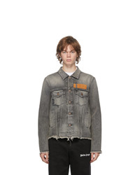 Palm Angels Grey Venice Denim Jacket