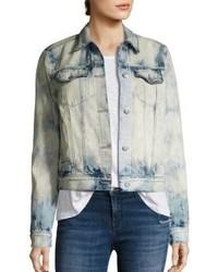 J Brand Harlow Shrunken Bleached Denim Jacket