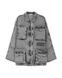Stella McCartney Oversized Acid Wash Denim Jacket