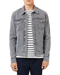 Men's Grey Denim Jackets by Topman | Men's Fashion