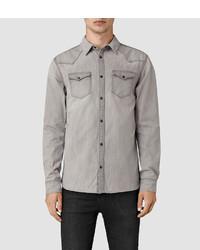AllSaints Pirnmill Denim Shirt