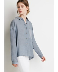 Forever 21 Contemporary Boxy Denim Shirt