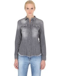 Cycle Raw Cut Cotton Denim Shirt