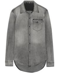 BLK DNM Distressed Denim Shirt