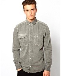Esprit Denim Shirt With Heavy Wash Gray