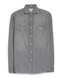 Brunello Cucinelli Leisure Fit Denim Western Shirt