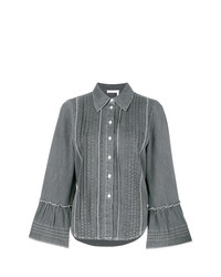 See by Chloe See By Chlo Pleated Denim Shirt