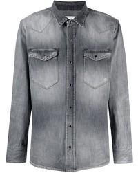 Eleventy Stonewash Denim Shirt
