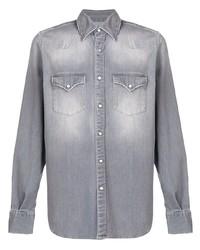 Eleventy Stonewashed Denim Shirt