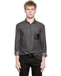2974443de3 Men's Grey Denim Shirts by The Kooples | Men's Fashion | Lookastic.com