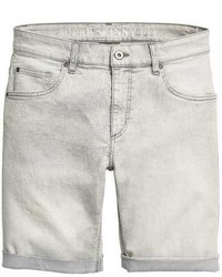 Grey Denim Shorts Mens