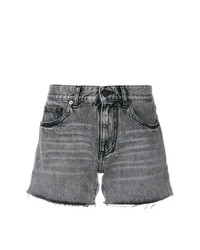Saint Laurent Faded Mini Shorts