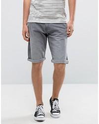 Esprit Gray Denim Shorts With Rolled Hem
