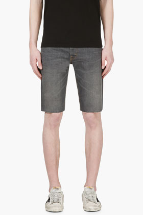 3a30b537 Levi's Grey Denim Cut Off 511 Slim Shorts, $50 | SSENSE | Lookastic.com