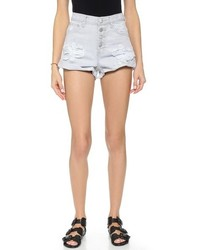 One Teaspoon Ice Grey Hawks Shorts