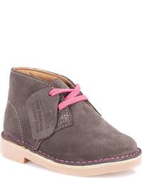 Clarks Infanttoddler Girls Desert Boot First Vintage Pink Suede Boots