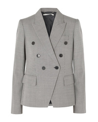 Stella McCartney Double Breasted Wool Tweed Blazer