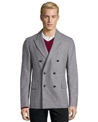 Gucci Grey Wool Blend Double Breasted 6 Button Front Blazer