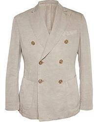 Incotex Montedoro Slim Fit Linen And Cotton Blend Blazer