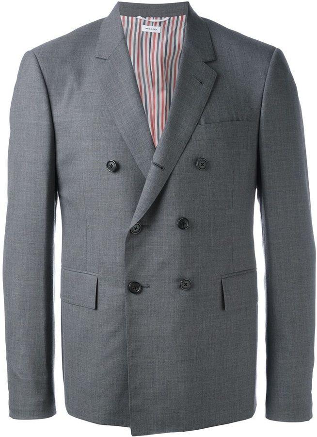 faf8abf488 Thom Browne Double Breasted Blazer, $1,764 | farfetch.com ...