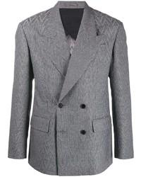 Versace Tonal Chevron Pattern Blazer