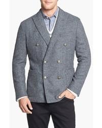 Kent & Curwen Worthington Double Breasted Shetland Wool Sportcoat