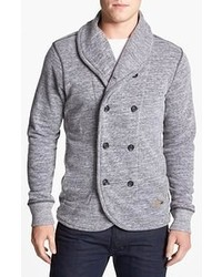 Grey Double Breasted Cardigan