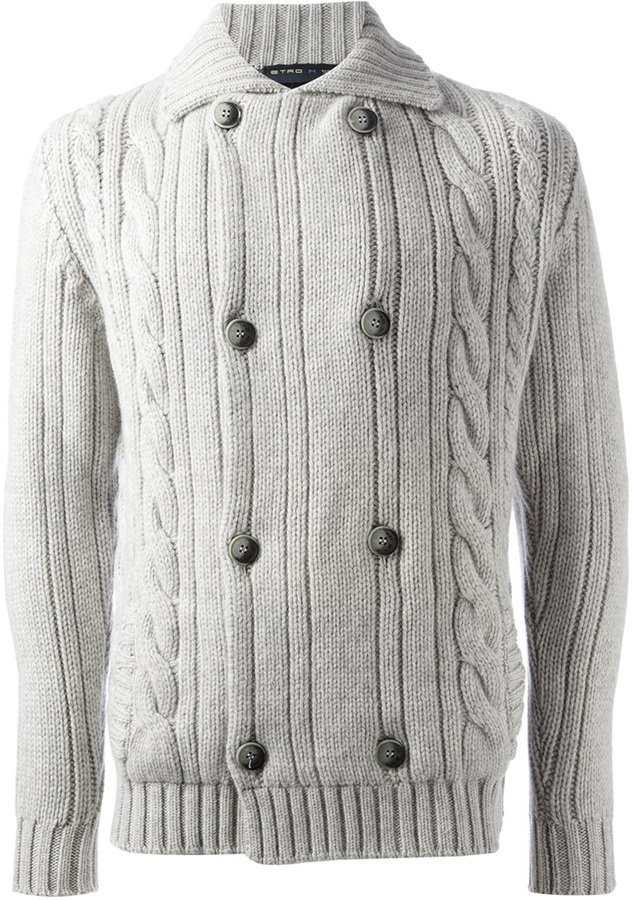 Etro Cable Knit Cardigan